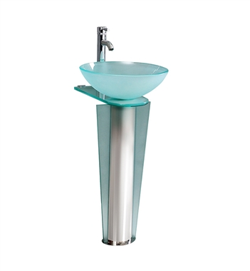 Fresca Vitale Modern Glass Bathroom Pedestal