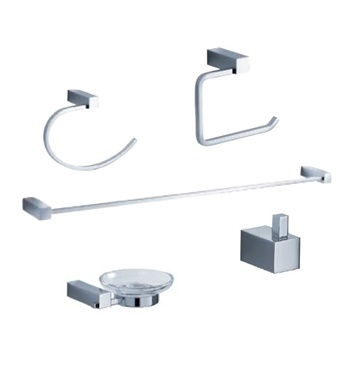 Fresca Ottimo 5-Piece Bathroom Accessory Set - Chrome