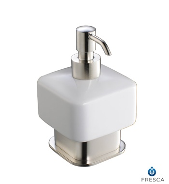 Fresca Solido Lotion Dispenser (Free Standing) - Brushed Nickel