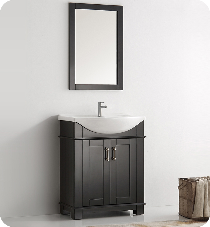 Fresca Hartford 30 Black Traditional Bathroom Vanity