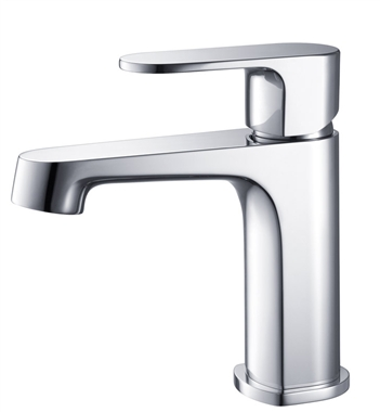 Fresca Gravina Single Hole Mount Bathroom Vanity Faucet - Chrome
