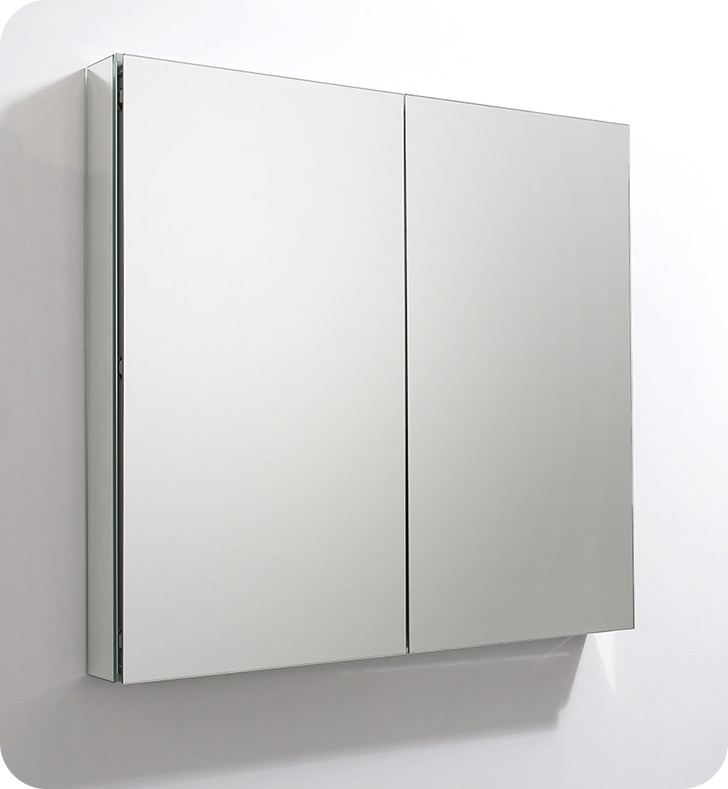 "Fresca 40"" Wide x 36"" Tall Bathroom Medicine Cabinet with Mirrors"