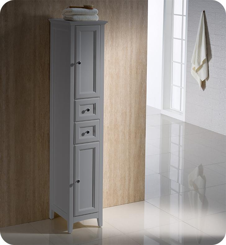 Fresca Oxford Grey Tall Bathroom Linen Cabinet