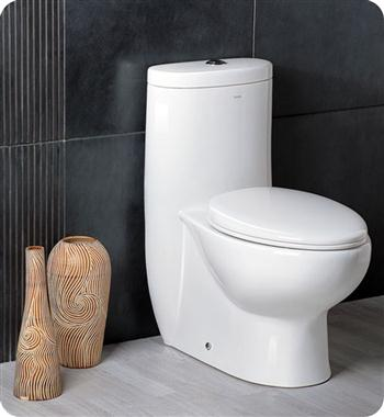 Fresca Delphinus One-Piece Dual Flush Toilet w/ Soft Close Seat