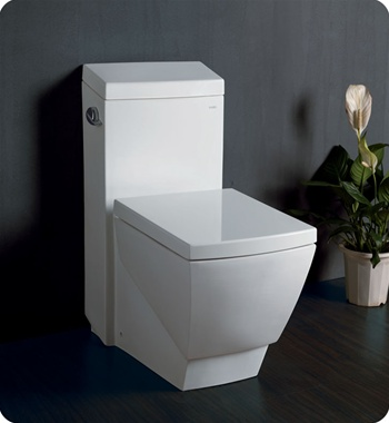 Fresca Apus One-Piece Square Toilet w/ Soft Close Seat