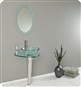 Fresca - Netto - Glass Bathroom Vanity w/ Wavy Edge Vessel Sink - FVN1036