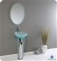 Fresca - Vitale - Glass Bathroom Vanity w/ Glass Etched Floral Pattern - FVN1053