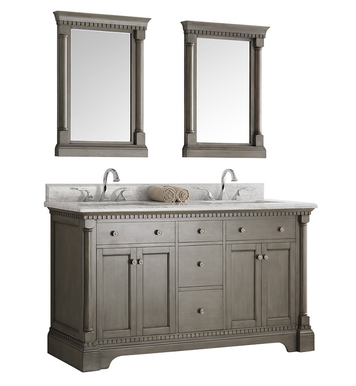vanities double vanity antique james riviera bathroom martin parchment inch traditional