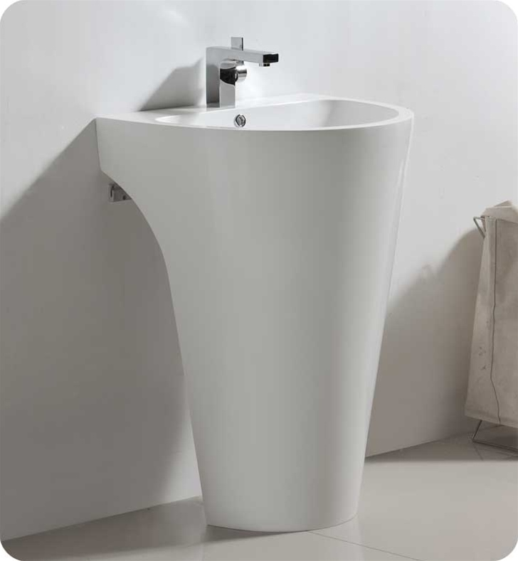 This All White Pedestal Vanity