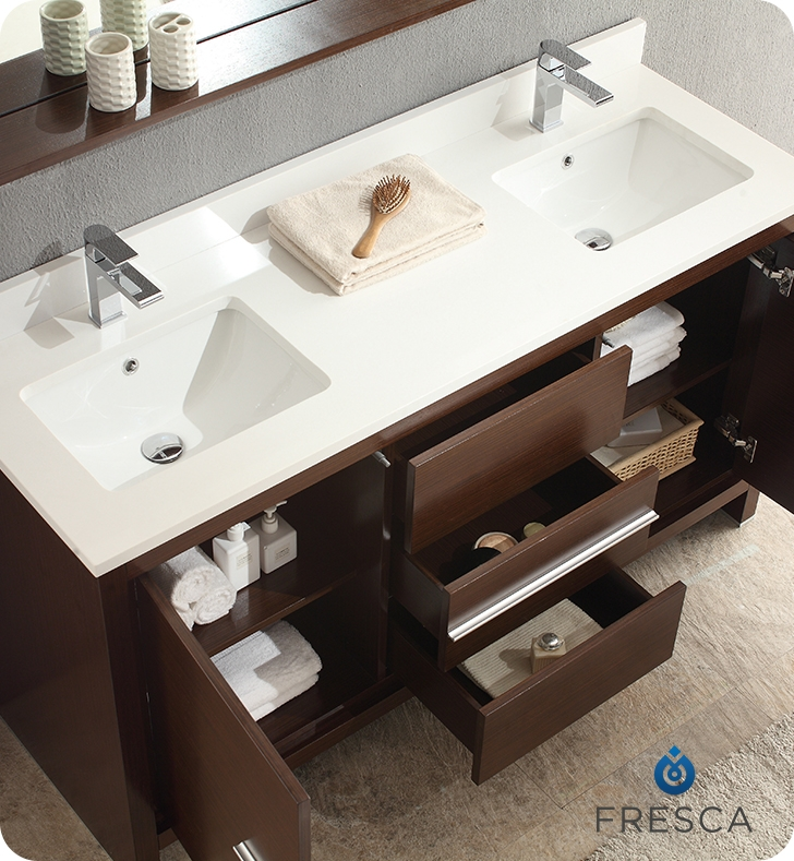 60 Double Sink Bathroom Vanities Perfect The Fresca Intended