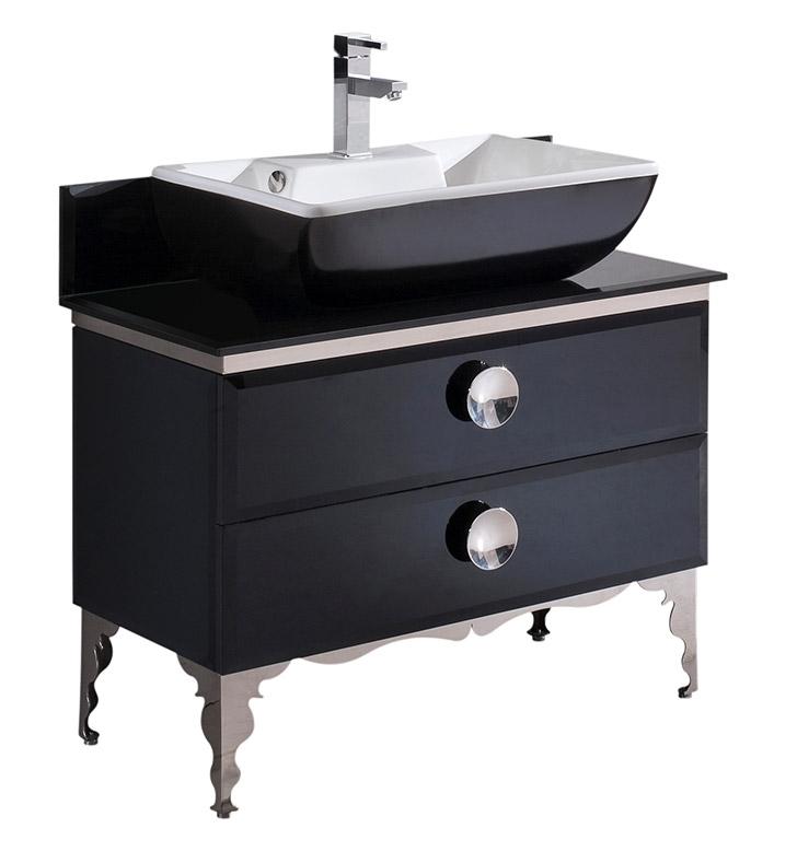 Fresca Moe 36 Modern Gl Bathroom Cabinet With Top Vessel Sink