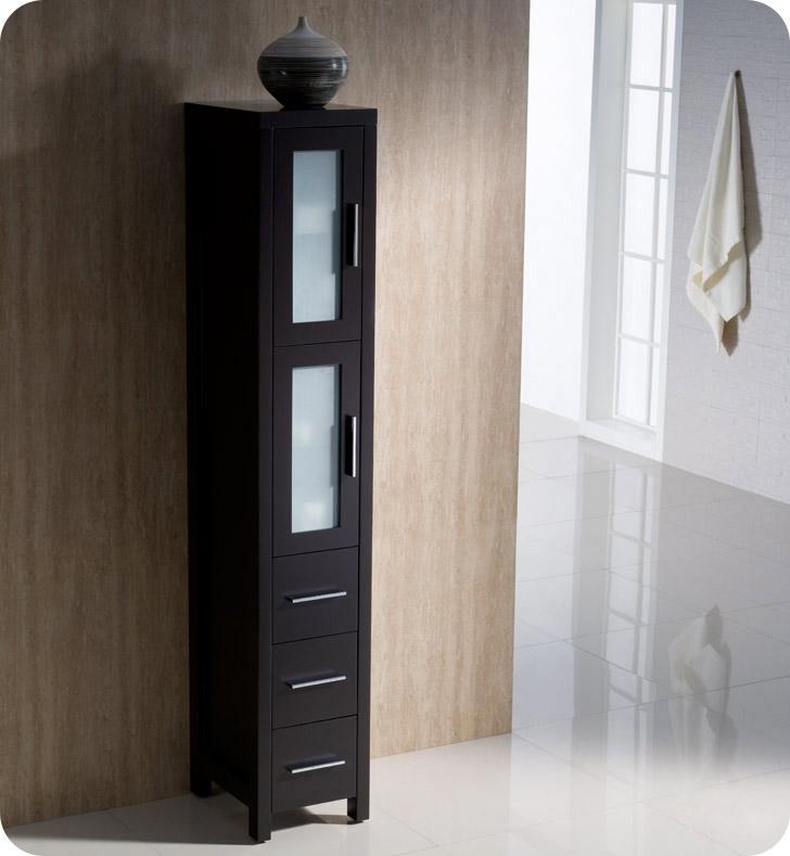 fresca torino tall bathroom linen side cabinet espresso