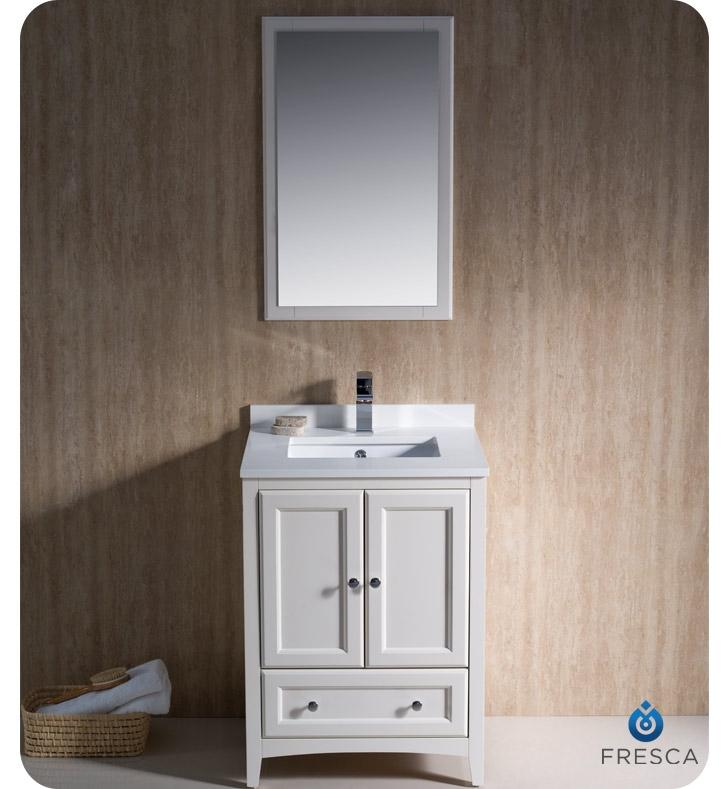 blending - Antique White Bathroom Vanity