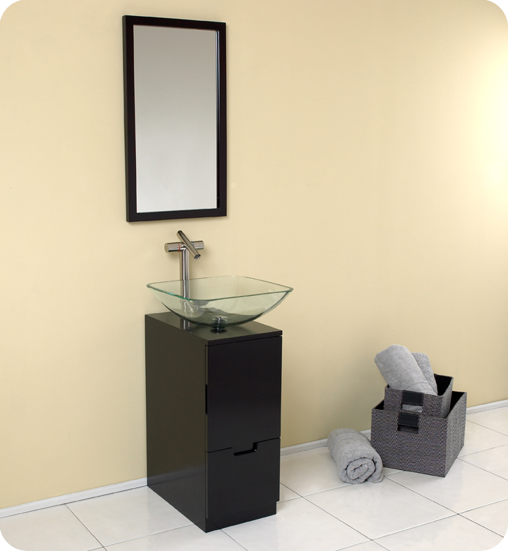 fresca brilliante espresso bathroom vanity w satin nickel faucet fvn6117es - Bathroom Cabinets Kansas City