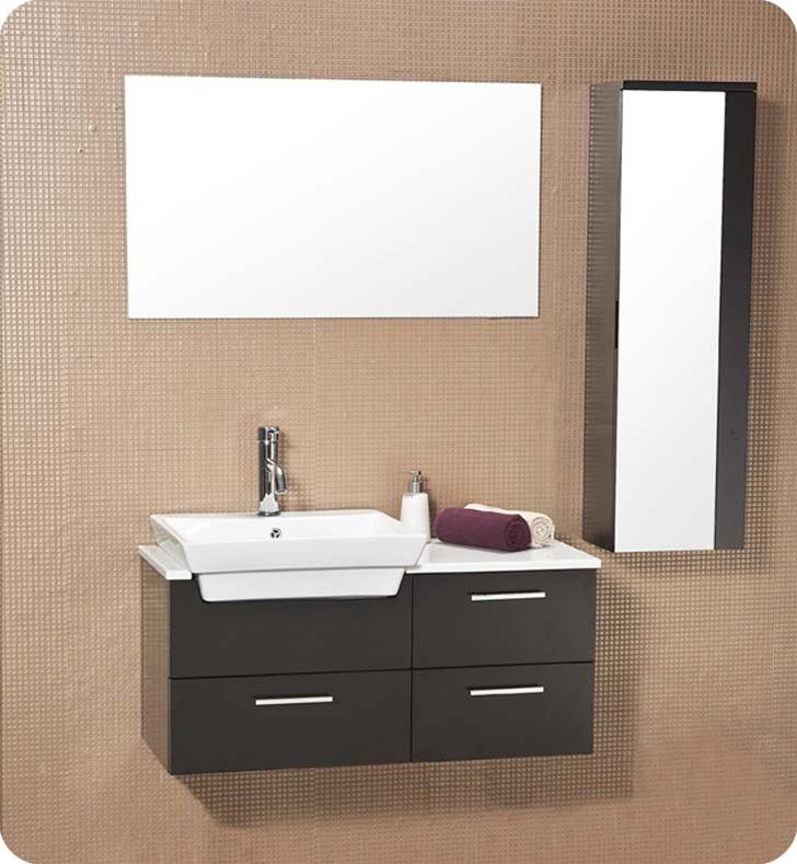 Fresca   Caro   Solid Wood Bathroom Vanity w  Mirrored Side Cabinet   FVN6163ES. Bathroom Vanities   Buy Bathroom Vanity Furniture  amp  Cabinets   RGM