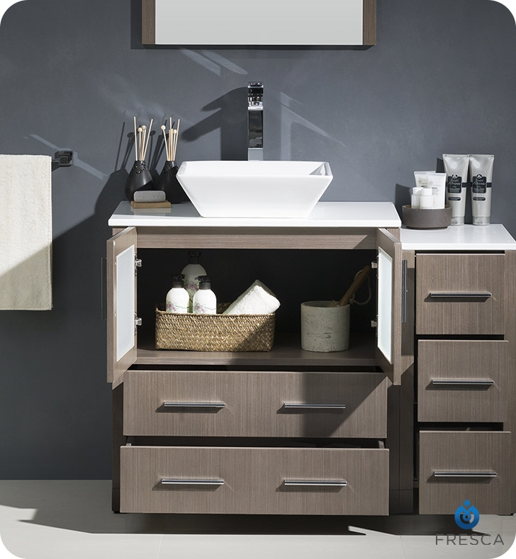 Bathroom Vanities Buy Bathroom Vanity Furniture Cabinets RGM - 42 gray bathroom vanity