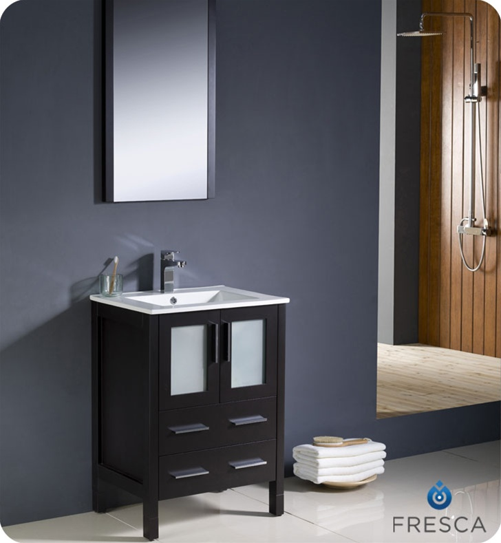 Fresca Torino 24 Espresso Modern Bathroom Vanity W Integrated Sink