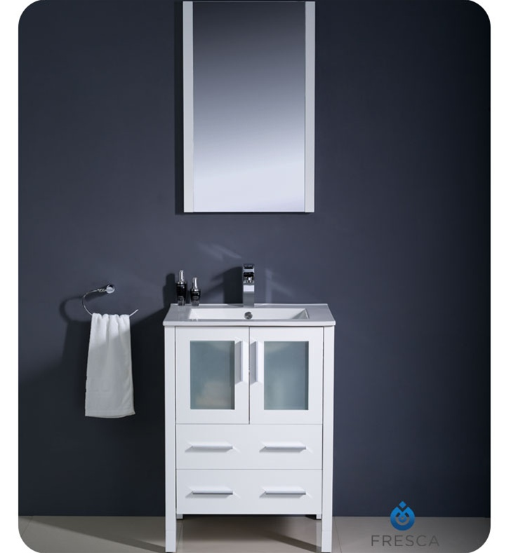 "... 24 Bathroom Vanity and Sink Luxury 24"" Quen Vessel Sink Vanity  Gray ..."