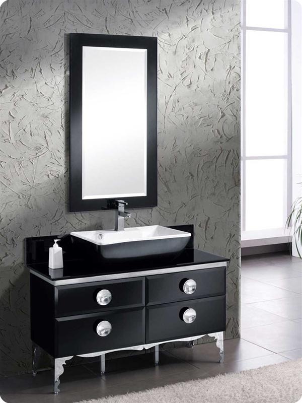 Fresca Moe 47 Modern Gl Bathroom Vanity W Mirror